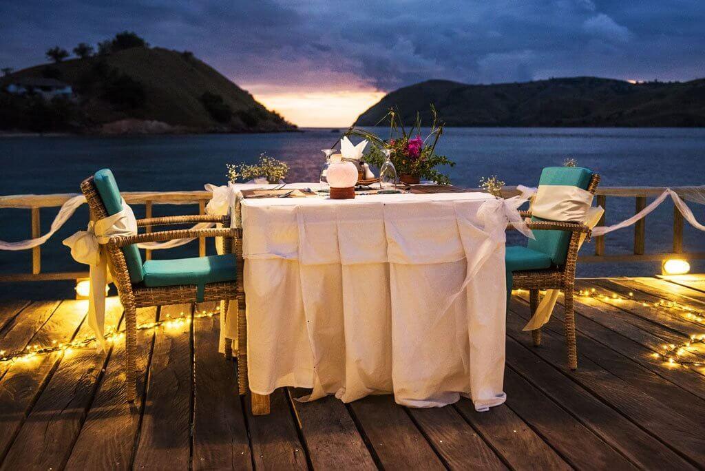 seraya resorts romantic dinner