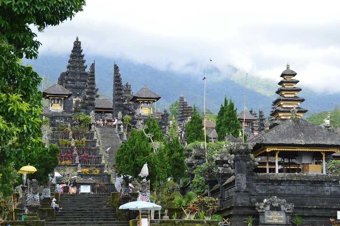 visiting temples - besakih temple